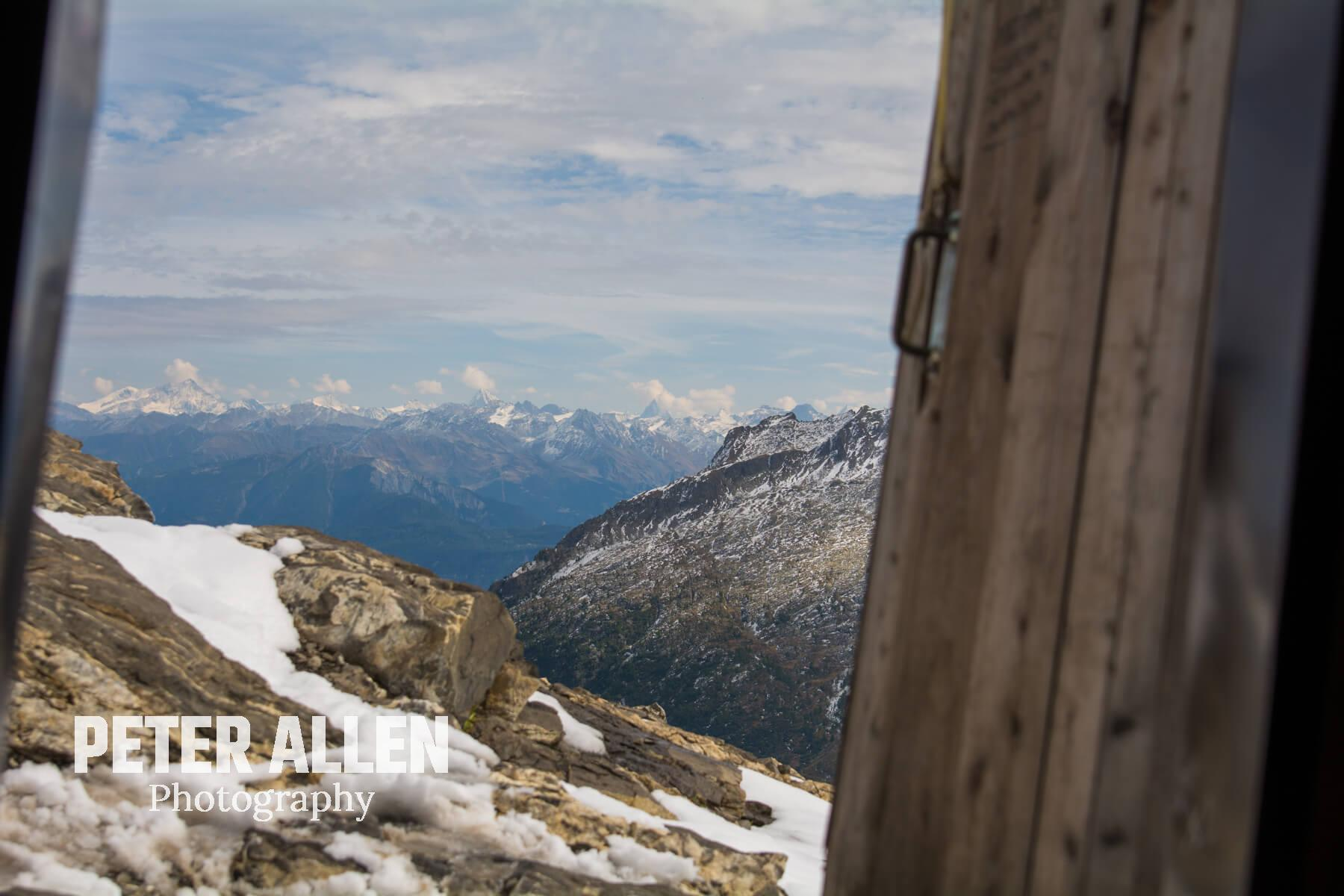 The view from the 'Bivouac' near the summit of Col de Susanfe