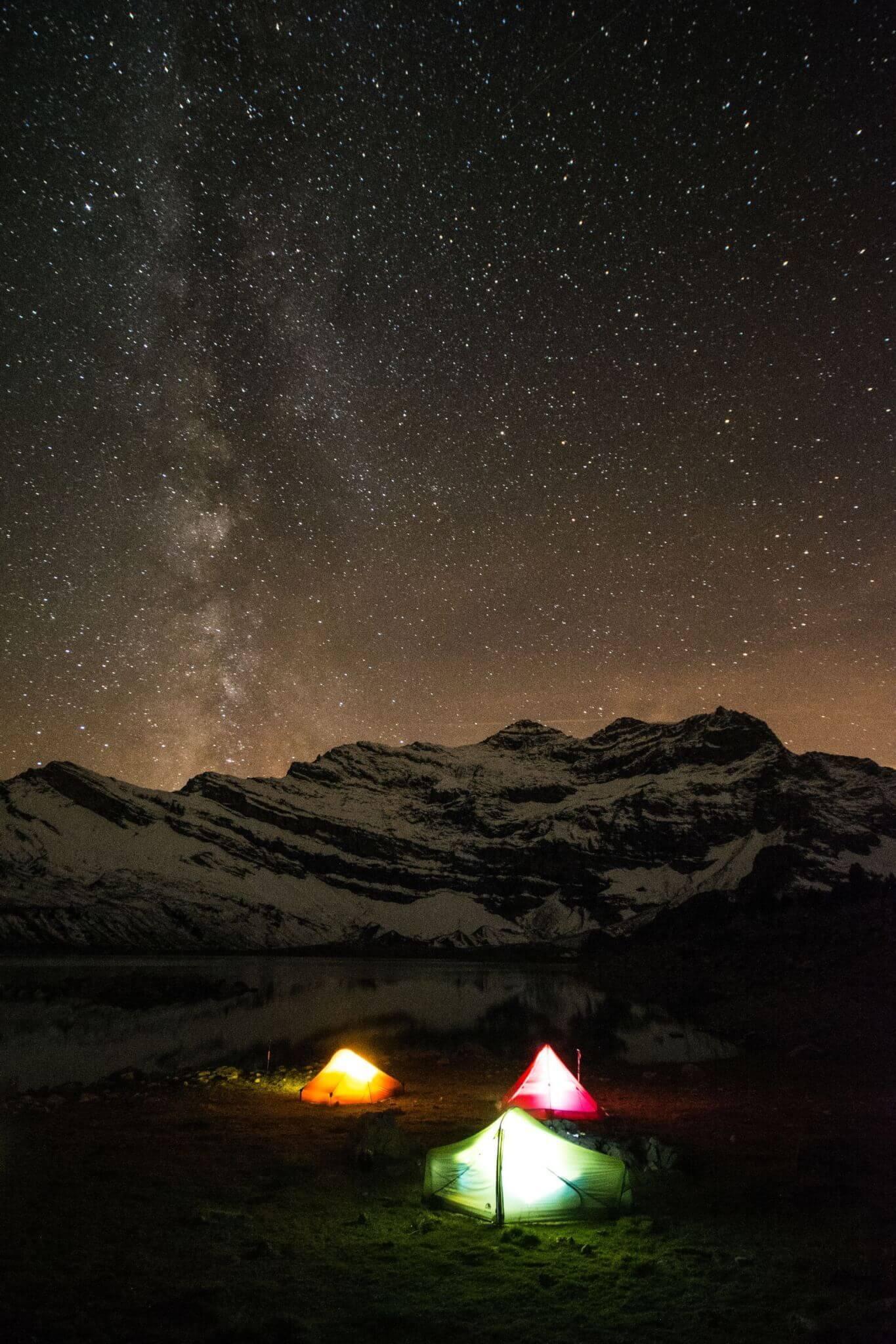 Dents-du-Midi Night Sky