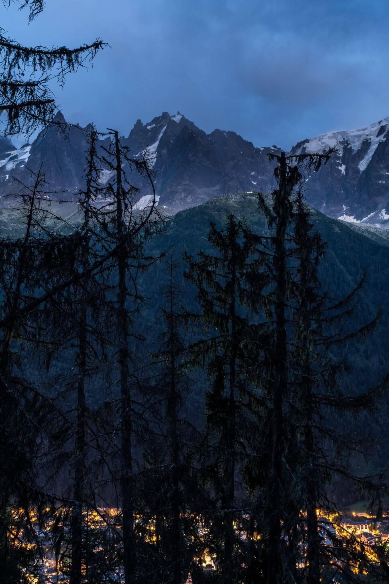 Chamonix at Twilight