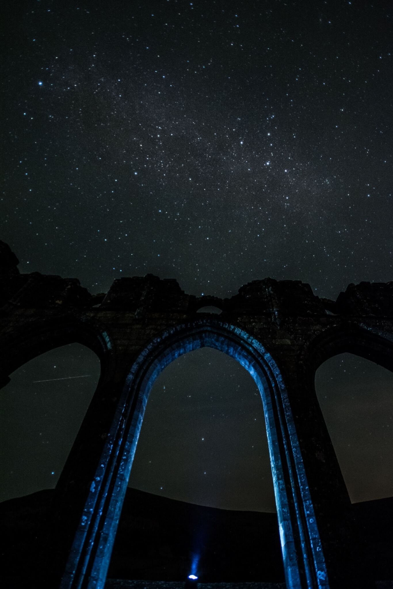 Night Sky at Llanthony Priory