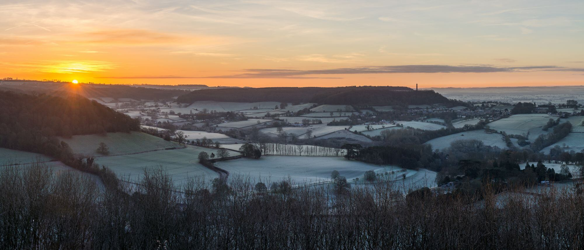 Frosty Hills of the Cotswolds