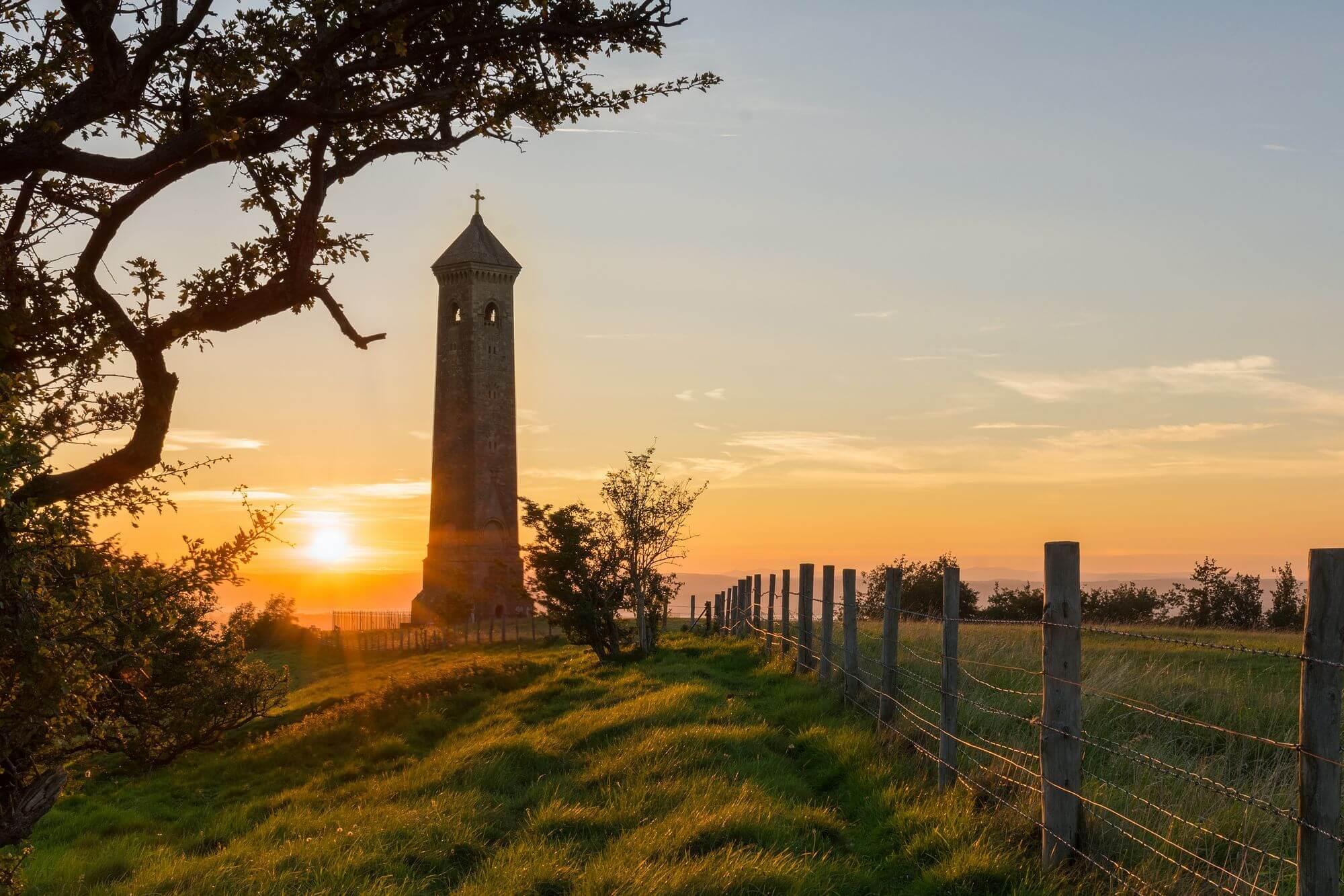 William Tyndale's Monument Sunset