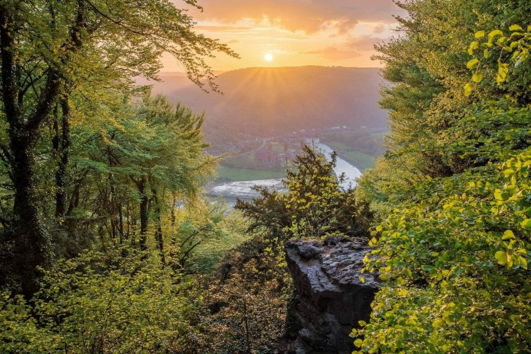 Devils Pulpit, Tintern at Sunset