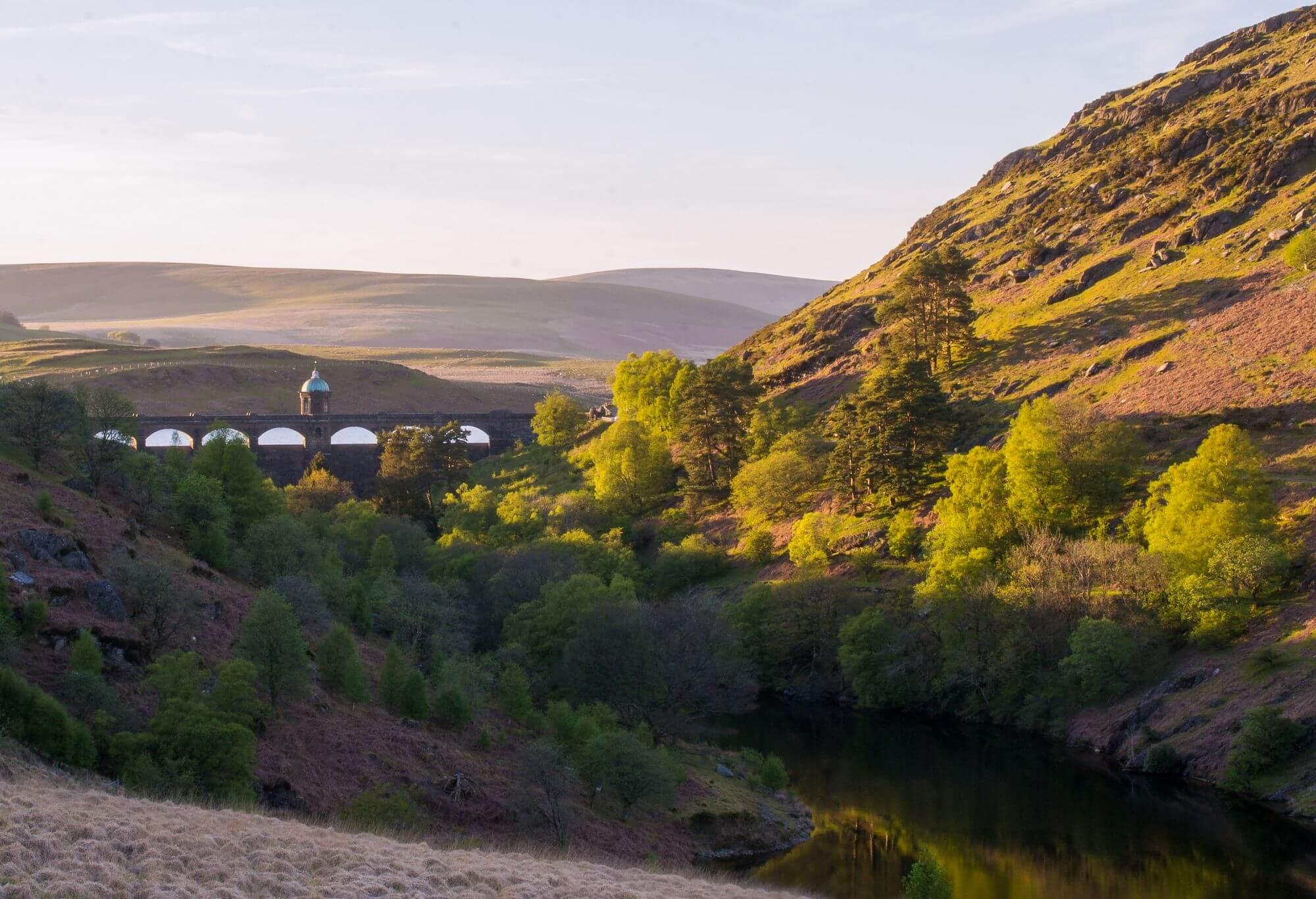 Craig Goch Reservoir at Sunset